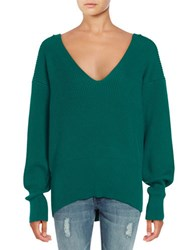 Free People Slouchy V Neck Sweater Turquoise