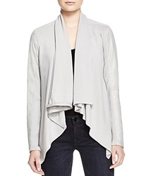 Blank Nyc Blanknyc Jacket Faux Leather Asymmetric Zip Light Grey