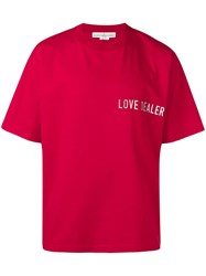 Golden Goose Deluxe Brand Love Dealer T Shirt Red