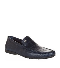 Stefano Ricci Crocodile Loafers Male Navy