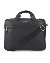 Tommy Hilfiger Black Essential Grained Pu Briefcase