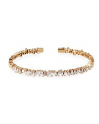 Suzanne Kalan Baguette Diamond Bangle In 18K Rose Gold