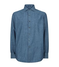 Peter Millar Japanese Denim Shirt Male