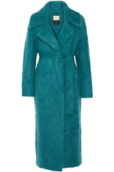 By Malene Birger Jovillan Ribbed Knit Coat Teal
