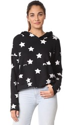 Terez Star Foil Scoop Back Hoodie Silver Star Foil