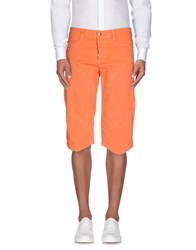 9.2 By Carlo Chionna Trousers 3 4 Length Trousers Men Orange