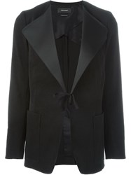 Isabel Marant Oversized Lapel Blazer Black