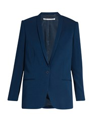 Stella Mccartney Mattea Shawl Collar Single Breasted Jacket Blue