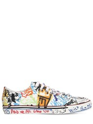 Vetements 20Mm Graffiti Canvas Sneakers White Multi