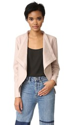 Bb Dakota Peppin Vegan Leather Drapey Jacket Parchment