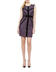 Erin Fetherston Sylvia Banded Tonal Lace Dress Amethyst