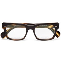Oliver Peoples Ryce Square Frame Tortoiseshell Acetate Optical Glasses Brown