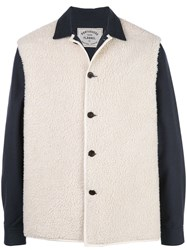 Portuguese Flannel Contrast Textured Jacket White