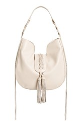 Phase 3 Lace Up Tassel Faux Leather Hobo
