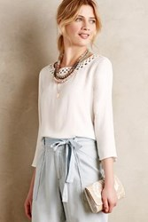 Anthropologie Lini Fringe Top White