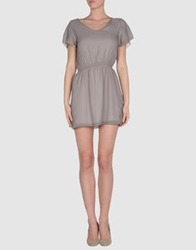 Amy Gee Short Dresses Khaki