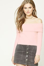 Forever 21 Fuzzy Off The Shoulder Sweater