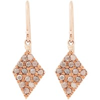 Fabrizio Riva Brown Diamond And Red Gold Spear Earrings