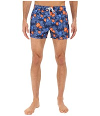 2Xist Tiki Flower Ibiza Estate Blue Men's Swimwear Navy