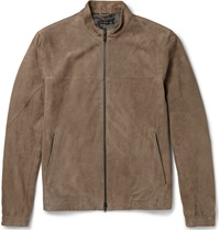 Theory Antony Suede Bomber Jacket Brown