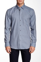 Toscano Check Regular Fit Long Sleeve Shirt Blue