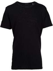 Atm Anthony Thomas Melillo Slub Jersey Crew Neck T Shirt Black