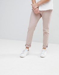 Ted Baker Slim Fit Chino In Beige Pink