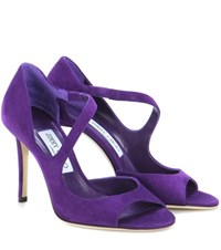 Jimmy Choo Dawes 100 Suede Pumps Purple