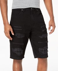 Lrg Men's Creative Uniform Distressed Shorts Black