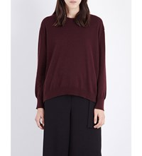 Pringle Of Scotland Round Neck Cashmere Jumper Oxblood