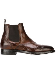 Silvano Sassetti Distressed Chelsea Boots Brown