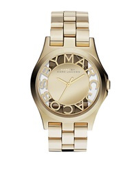 Marc By Marc Jacobs Ladies Gold Ip Mirror Dial Watch Goldtone