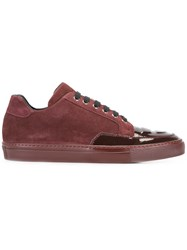 Alejandro Ingelmo Panelled Sneakers Red