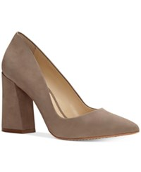 Vince Camuto Talise Pointed Block Heel Pumps Women's Shoes Smoke Show
