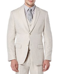 Perry Ellis Big And Tall Linen Suit Jacket Natural Beige