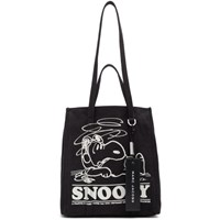 Marc Jacobs Black Peanuts Edition The Tag Tote