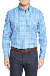 Peter Millar Men's Coral Check Sport Shirt
