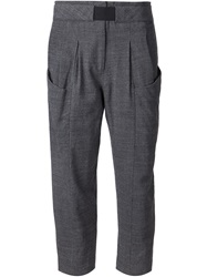 Thakoon Addition Cropped Slim Fit Trousers Grey