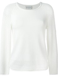 Moncler Open Knit Jumper White