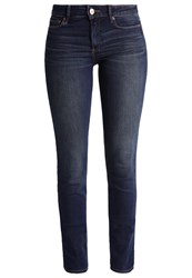 Abercrombie And Fitch Straight Leg Jeans Dark Wash Dark Blue Denim