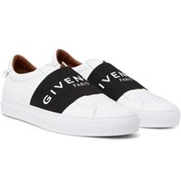 Givenchy Urban Street Leather Slip On Sneakers White