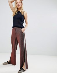 Maison Scotch Glitter Side Stripe Disco Trousers 72 Disco Pink