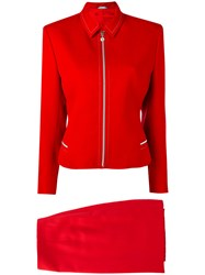 Versace Vintage Two Piece Suit Red