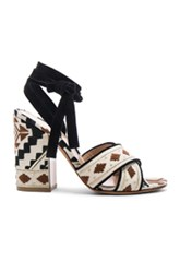 Gianvito Rossi Cheyenne Navajo Heels In Abstract Neutrals