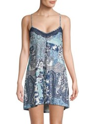 In Bloom On The Water Chemise Navy Aqua