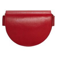 Liebeskind Berlin D Bag Leather Saddle Bag Italian Red