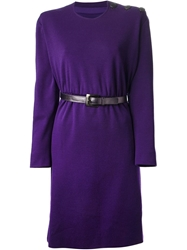 Yves Saint Laurent Vintage Belted Dress Pink And Purple