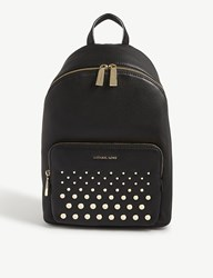 Michael Michael Kors Wythe Large Grained Leather Backpack Black