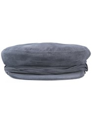 Maison Michel Aby Officer's Cap Grey