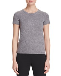 Bloomingdale's C By Short Sleeve Cashmere Sweater Slate